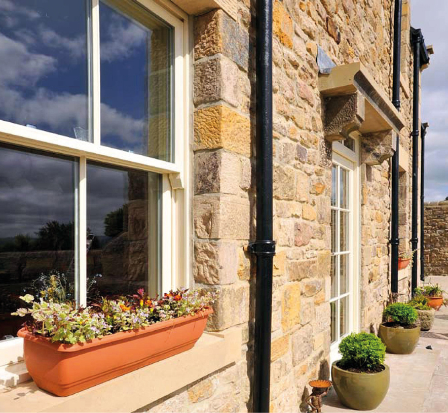 Cords and Weights Vertical Sliding Windows
