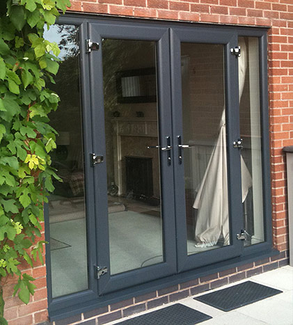 anthracite grey coloured windows doors conservatories