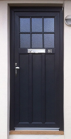 Anthracite Grey Front door Burbage, Leicestershire