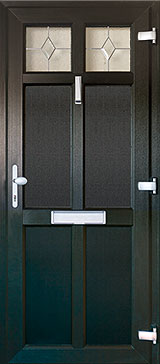 Black Legacy Door 2 Pane Burbage, Leicestershire