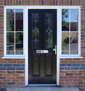 Black Composite Door with Side Panels Burbage, Leicestershire