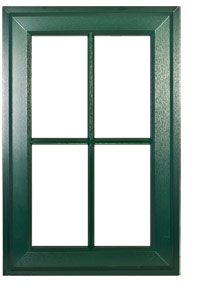Dark Green Window Burbage, Leicestershire