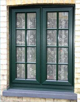 Dark Green French Windows Burbage, Leicestershire