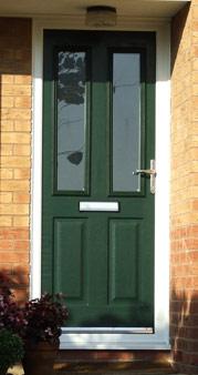 Dark Green Composite Door Burbage, Leicestershire