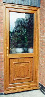 Golden oak Back Door Burbage, Leicestershire