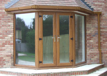Golden oak French Doors Burbage, Leicestershire