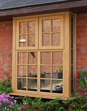 Irish Oak Bay Window Burbage, Leicestershire