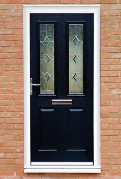 Black Solidor Double Doors