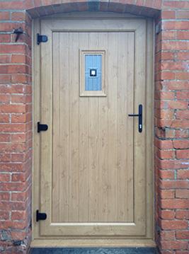 Irish Oak Effect Panelled Door