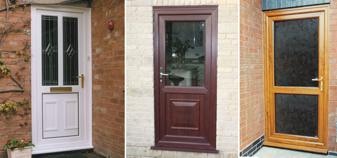 Front and back single doors double glazed doors cwg for Double back doors