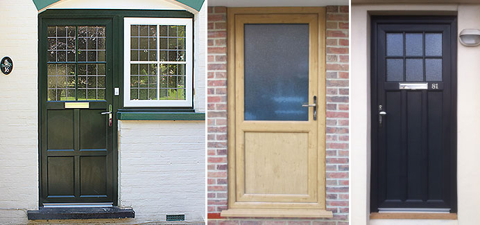Front and back single doors double glazed doors cwg for Front and back doors