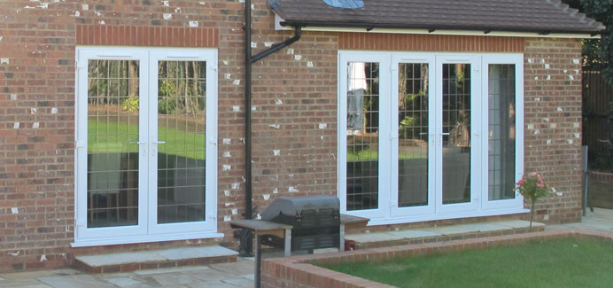 French doors double glazed doors cwg choices ltd for Upvc french doors grey