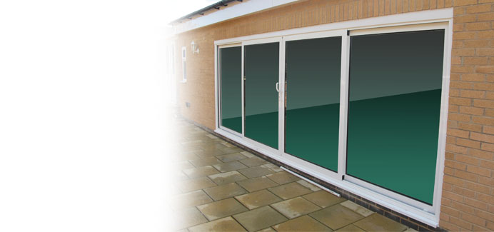White Aluminium Large Patio Doors