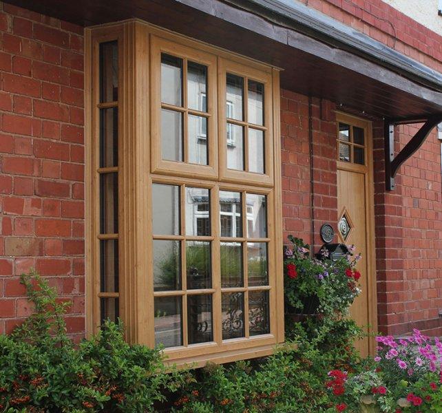 Golden oak coloured windows doors and conservatories for Windows doors and conservatories