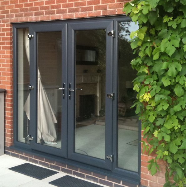 Grey coloured windows doors and conservatories windows for Coloured upvc doors