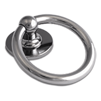 Bull Ring Knocker Hardex Chrome