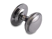 decorative door knob in chrome