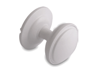 decorative door knob in white
