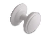 decorative door knob in white