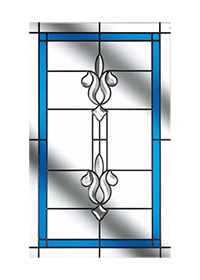 Designer Etch Long Glass Design