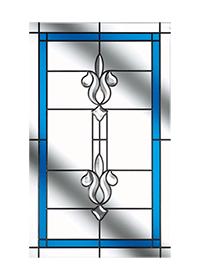 Designer Etch Long Glass Design