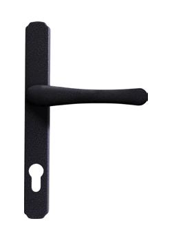 heritage door handle in antique black