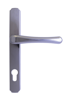 heritage door handle in hardex chrome