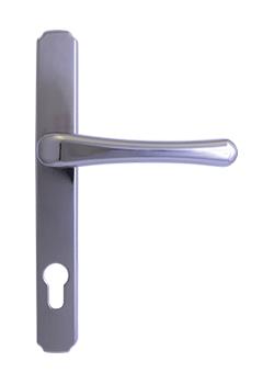 heritage door handle in hardex chrome