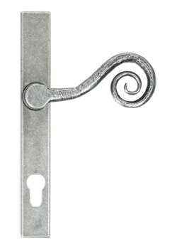 monkey tail door handle in pewter