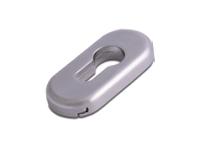 oval escutcheon in hardex satin