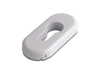 oval escutcheon in white