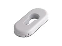 oval escutcheon in white