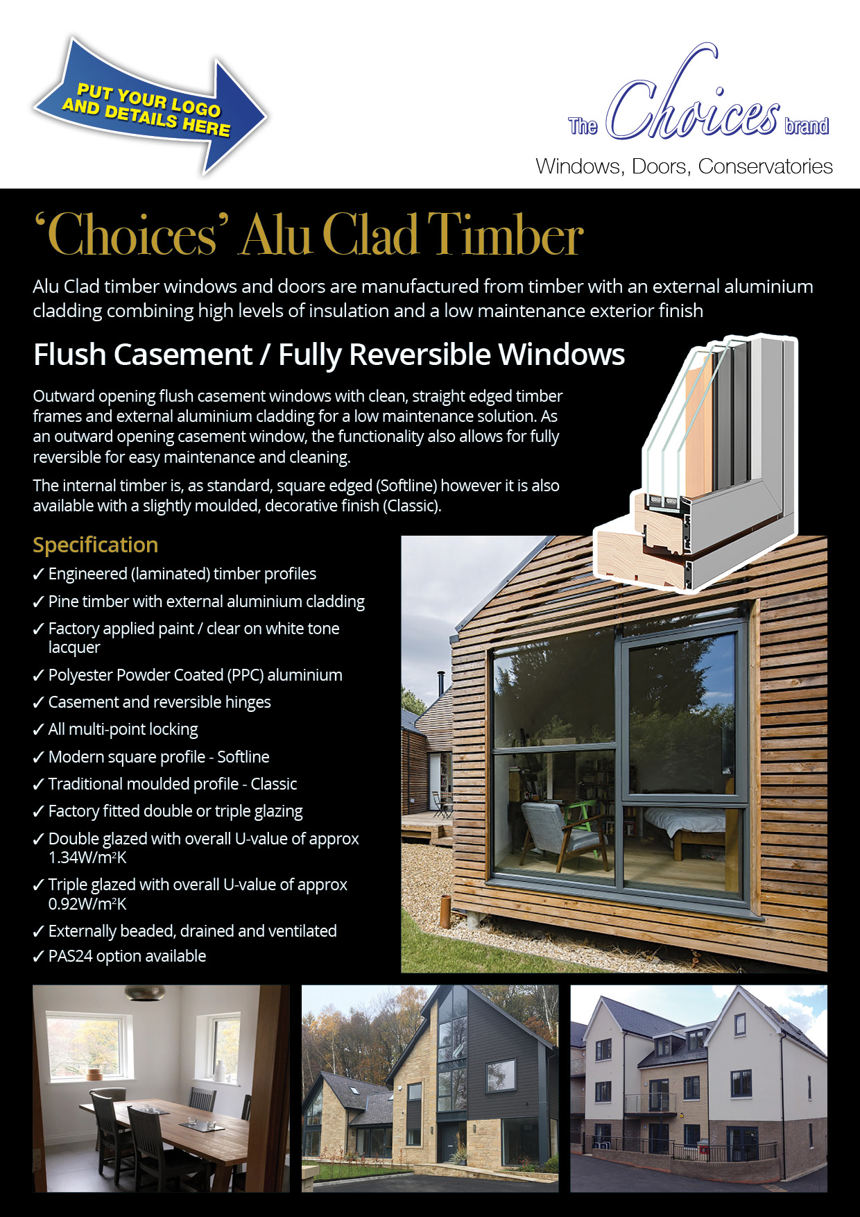 Choices Rebrandable Alu Clad Timber