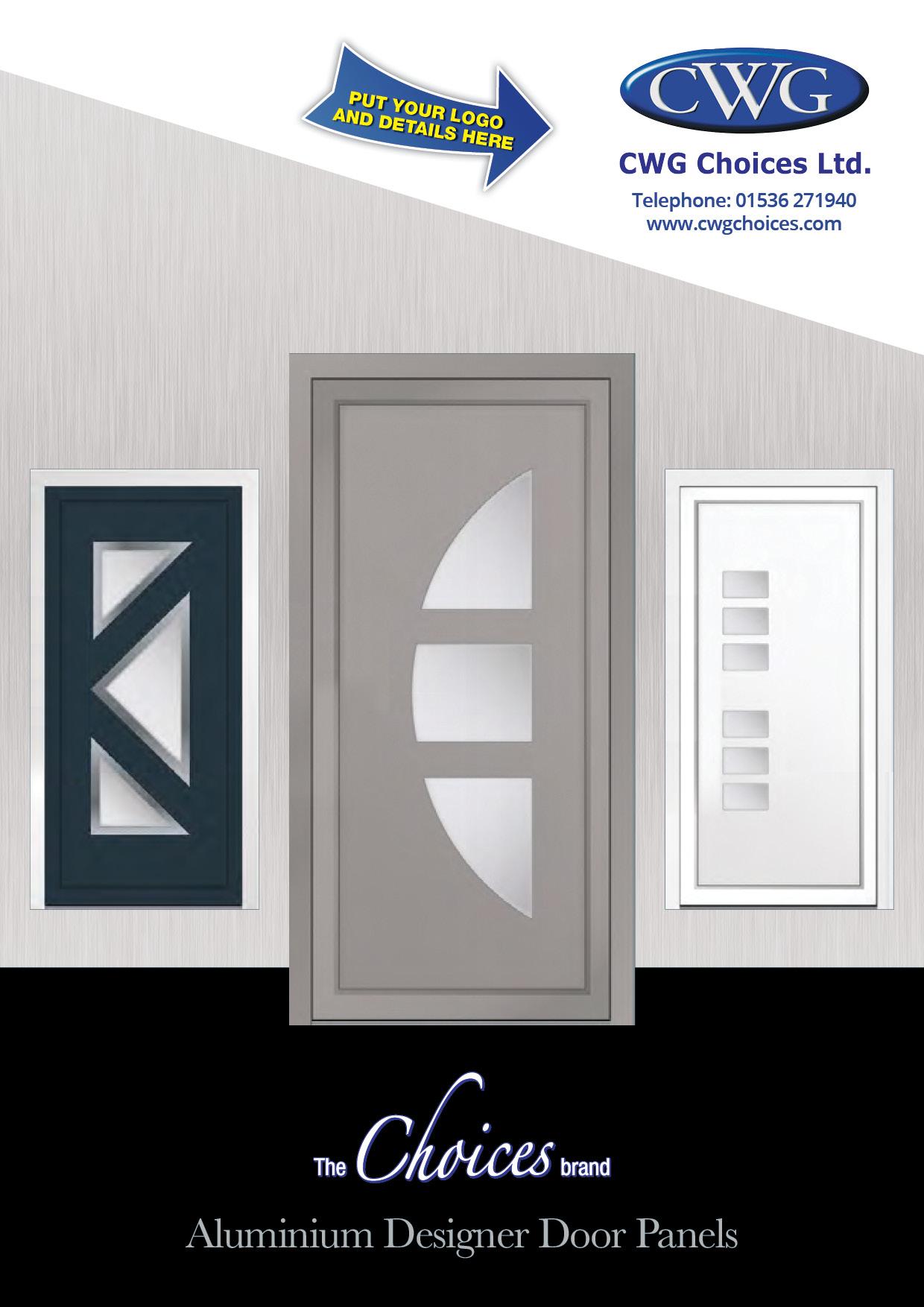 Choices Aluminium Designer Door Panels brochure cover