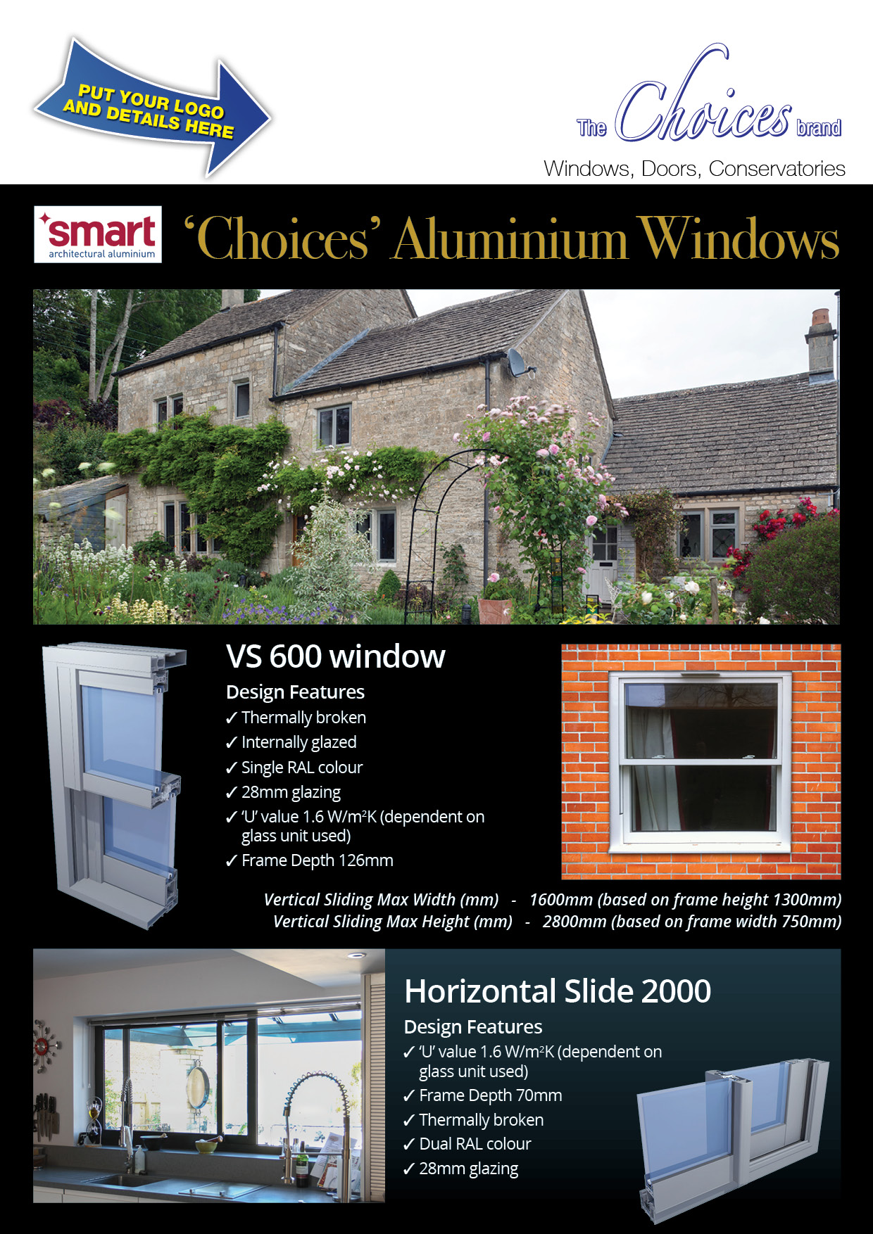 Choices Rebrandable Aluminium Windows Smart