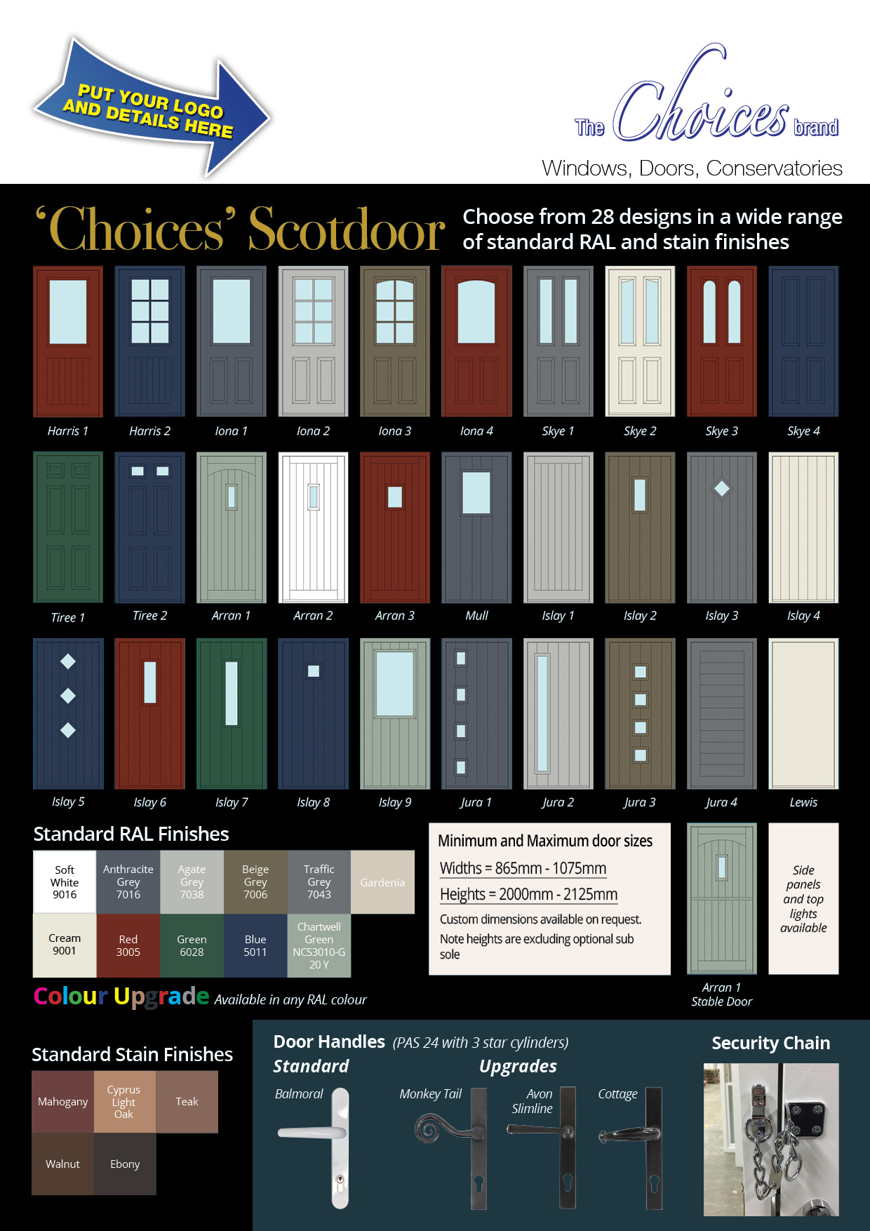 Choices Rebrandable Scotdoors