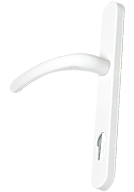 white-door-handle