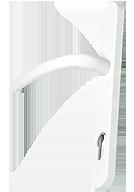 white-door-handle