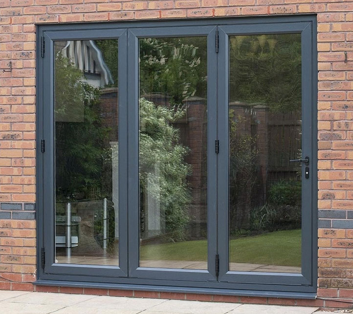 Imagine multi fold door from choices windows doors for Upvc french doors grey
