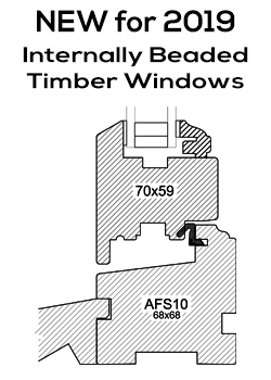 NEW for 2019 Internally Beaded Timber Windows