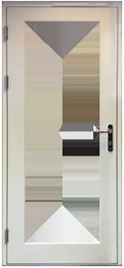 Full Height Glass Door Design