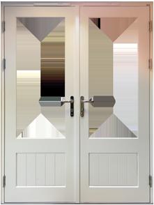 Part Glazed Grooved Panel Door Design