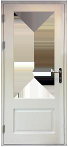 Part Glazed Plain Panel Door Design
