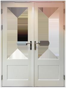 Part Glazed Security Panel Door Design