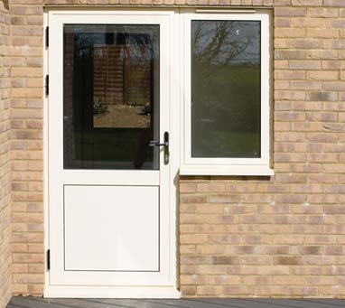White Residential Aluminium Door