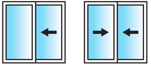 Lift and Slide 2 Pane Configuration