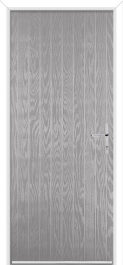 Silver Grey Carburton Solid Fire Door Design