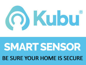 Kubu smart sensor logo and strapline with a click through to the page